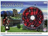 Scottish DVD Music/Video Postcard