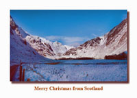 Scottish Glen Christmas card