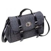 Harris Tweed satchel bag charcoal