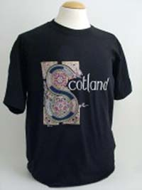 Black Celtic Design Tee Shirt