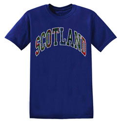 Scotland in Tartan T Shirt
