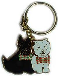 Scottie/Westie Metal Keyring