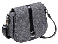 Harris Tweed shoulder bag grey herringbone