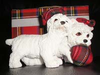 Westies And Ball Ornament