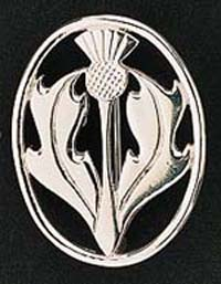 Celtic Thistle Brooch