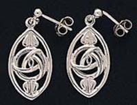 Mackintosh Inspired Oval Drop Earings