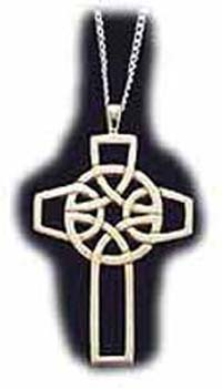Sterling Silver Celtic Round Cross Pendant