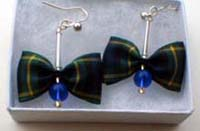 Campbell tartan earrings