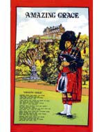 Scottish Piper Tea Towel (Amazing Grace)