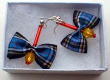 Anderson tartan earrings