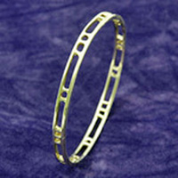 Sterling Silver Mackintosh Bangle