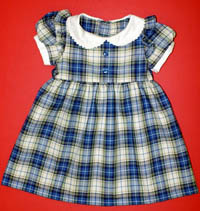 Girls Blue Tartan Dress