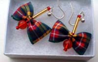 Buchanan tartan earrings