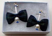 Black Watch tartan earrings