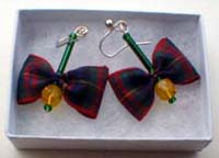 Cameron tartan earrings