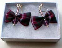 Crawford tartan earrings