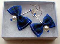 Douglas tartan earrings