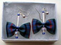 Flower of Scotland tartan earrings