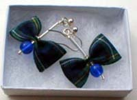 Gordon tartan earrings