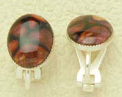 Heathergem Clip Earrings with Silver plated fittings (he20)