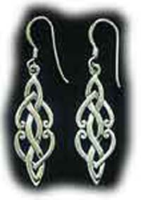 Sterling Silver Celtic Knot Design Earrings