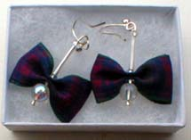 Lindsay tartan earrings
