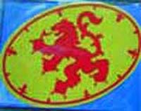 Plain Lion Rampant Sticker Ovalq