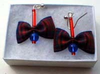 Macdonald tartan earrings