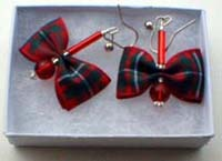 MacGregor tartan earrings