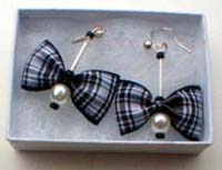 Menzies tartan earrings