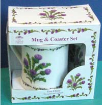 Thistle Mug and Coaster set
