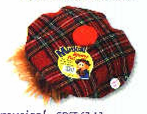 Musical Tartan Jimmy hat