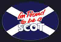 Oval I'm Proud To Be a Scot