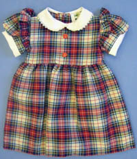 Girls Red Tartan Dress