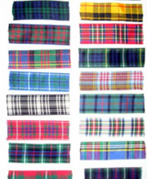 Polyester Tartan Ribbon by the Metre