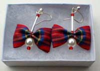 Royal Stewart tartan earrings