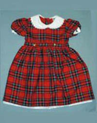 Girls Royal Stewart Tartan Dress (with belt and ties)