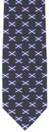 Scottish saltire repeat polyester tie