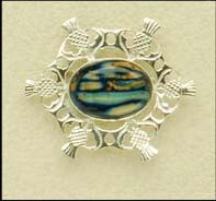Sterling Silver Heathergem Brooch (sb15)