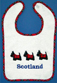 Scottie Dog Tartan Bib