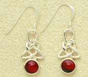 Celtic Drop Earrings with Sterling Silver fittings (se7)