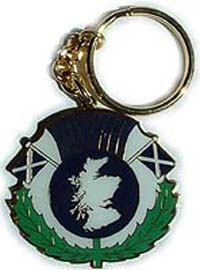 Scotland Metal Keyring