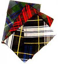 Silk Tartan Hankies (each)