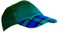 Clan tartan peak baseball caps