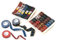7mm x 20m Roll of Polyester Tartan Ribbon