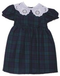 Young Girls Black Watch Tartan Dress