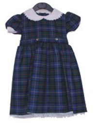 Girls Black Watch Tartan Dress (with belt and ties)