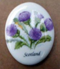 Thistle design magnet (ceramic)