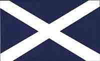 Two Small Saltire Stickers