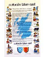 """Wha's like us? - Damn few and they're A'Died!"" Tea Towel"